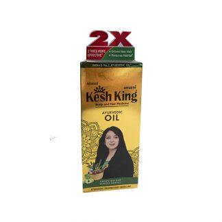 Аюрведическое масло для поврежденных волос Кеш Кинг,100 мл, Ayurvedic Medicinal Oil Kesh King, Индия