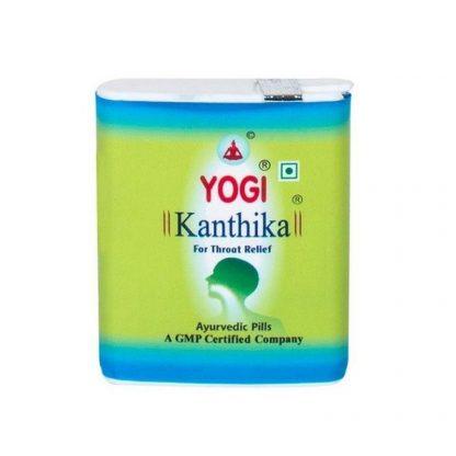 Драже для горла Йоги Кантика , 70шт / 140 шт, Yogi Kanthika, Индия