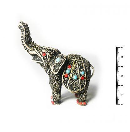 Слон орисса инкрустированный h6*7 см