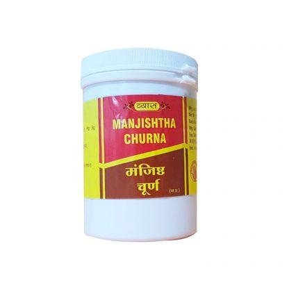 Манжишта Чурна, кровоочистительное, очищение печени, селезенки, почек, 100 гр, Manjishtha churna, Vyas, Индия