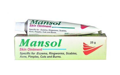 Мазь при дерматологических заболеваниях Мансол, 25 г, Mansol