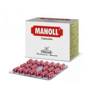 Манолл, укрепление иммунитета, 20 капсул,Manoll, Charak, Индия