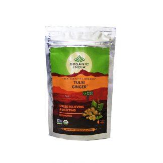 Чай Тулси Джинджер, Tulsi Ginger tea, Organic India, 100 г