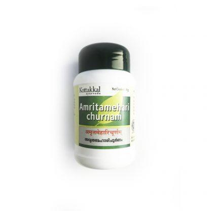 Амритамехари чурна, от диабета и для понижения сахара в крови, 50 гр, Amritamehari churnam, Kottakkal Arya, Индия