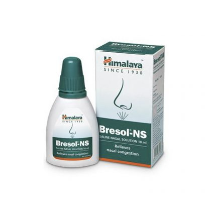 Капли для носа Бресол, средство против заложенности носа, 10 мл, Bresol-NS Saline Nasal Solution, Himalaya