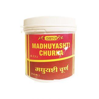 Мадхуяшти Чурна, 100 гр, дыхательная система, Madhuyashti Churna, Vyas Pharmaceuticals