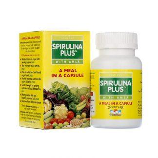 Спирулина Плюс, витаминный комплекс, 60 капсул, Spirulina plus, Goodcare Baidyanath