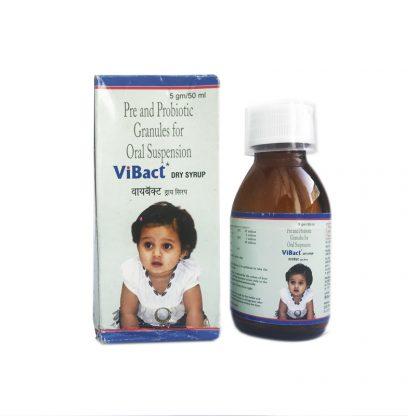 Пре-и пробиотик для детей всех возрастов ViBact — сухой сироп-гранулы (для пероральной суспензии), 5гр/50мл, pre and probiotic ViBact dry syrup, USV Privat Limited