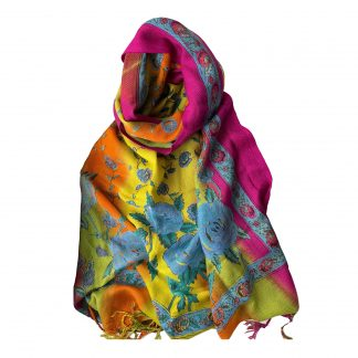 шарф, шерсть + вискоза, 120*200см