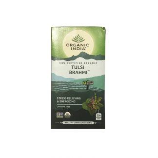 Чай Тулси с Брами, 25 пакетиков, Tulsi Brahmi Tea, Organic India