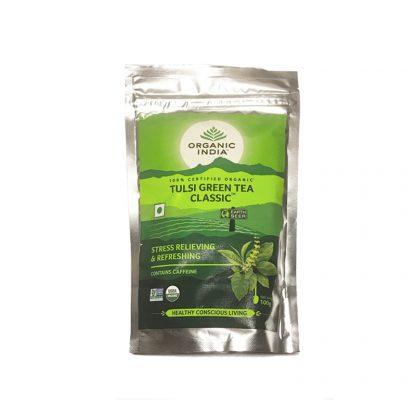 Классический зеленый чай Тулси, 100 г, Органик Индия, Tulsi Green Tea Classic, Organic India