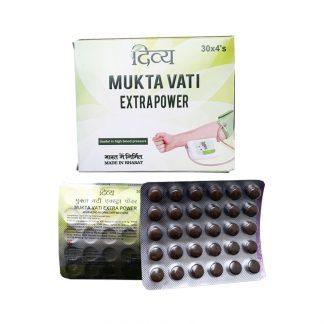 Mukta Vati Extrapower Divya Pharmacy, Patanjali, Мукта Вати Дивья,Патанджали, от гипертонии, 120 таб, Индия