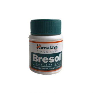Бресол, заболевания дыхательных путей астма, бронхиты, 60 таб , Bresol, Himalaya, Индия