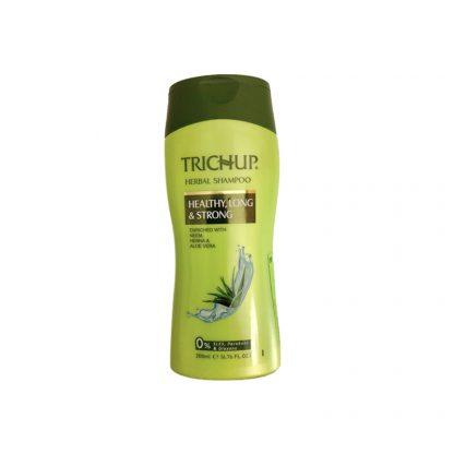 Шампунь для роста волос Тричуп, обогащенный Нимом, Хной и Алоэ Вера, 200 мл, Trichup Herbal Shampoo, Healthy, Long, Strong, Vasu, Индия