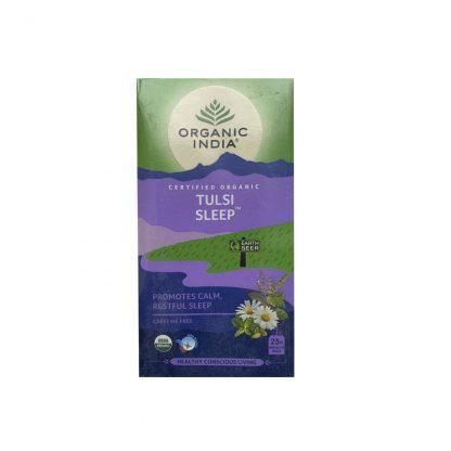 Чай Тулси Слип для улучшения сна, 25 пакетиков, Organic India Tulsi Sleep, Tea Bags, Organic India