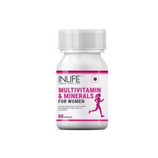 Мультивитаминный комплекс с минералами для женщин, Инлайф, 60 капсул, Multivitamin & Minerals Supplement For Women, Inlife