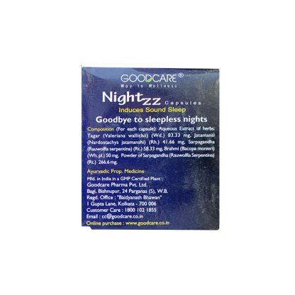 Найтз, натуральное снотворное, 10/50 капс., Nightzz Induces Sound Sleep, Good Care Baidyanath
