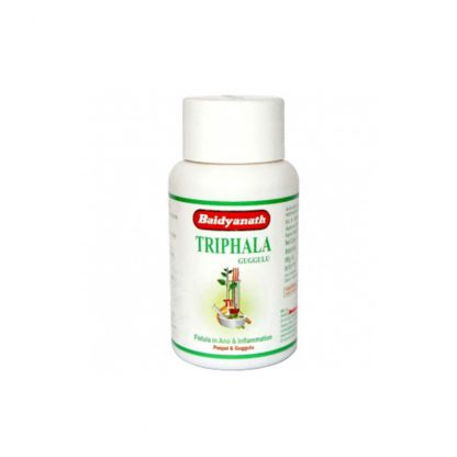 Трифла (Трифала) Гуггулу, безопасное очищение организма, 80 таб., Trifla (triphala) guggulu, Baidyanath