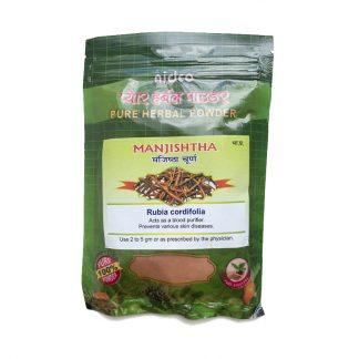 Манжишта чистый травяной порошок, 50 гр,очиститель крови, от кожных заболеваний, Manjishtha churna, Rubia cordifolia, Nidco