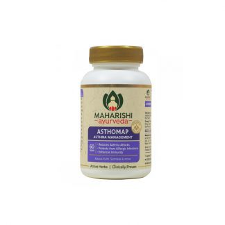 Астхомап, бронхиальные и респираторные аллергии, противокашлевое, 60 таб., Asthomap, Maharishi Ayurveda, Индия