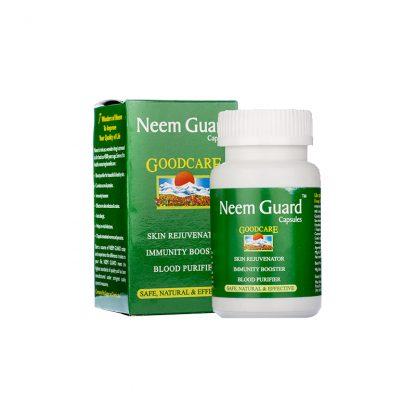 Ним Гуард, очищение крови, кожные заболевания, 60 кап, Neem Guard, Goodсare Baidyanath