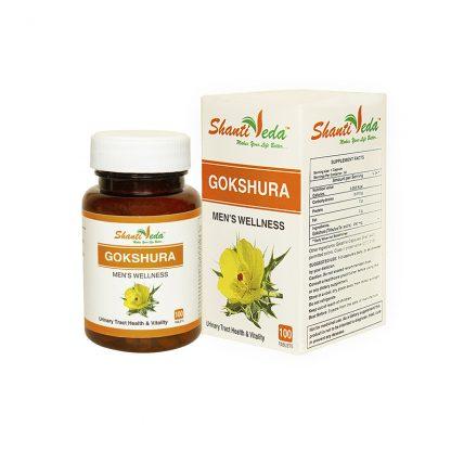 Гокшура, мочеполовая система, почки, 100 капсул, Gokshura, Shanti Veda