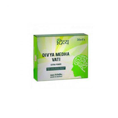 Медха Вати, улучшение работы мозга, памяти, для сосудов, 120 таб., Medha Vati Extrapower, Divya