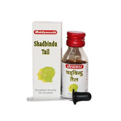 Масляные капли Шадбинду, от насморка и гайморита, инфекционных заболеваний, 50 мл, Shadbindu Tel, Baidyanath, Индия